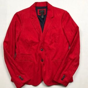 J. Crew Red Schoolboy Blazer